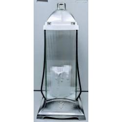 LAMPION 3D DUŻY SREBRNY