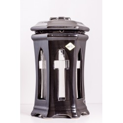 Znicz porcelana ZC5 czarna metaliczna