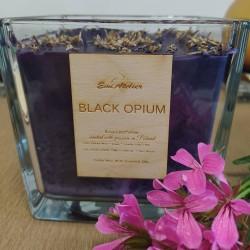 ŚWIECA PALMOWA /  Black Opium / granat / 1300 ML / 1 SZTUKA